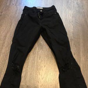 Topshop Jamie Step Hem Distressed Jeans